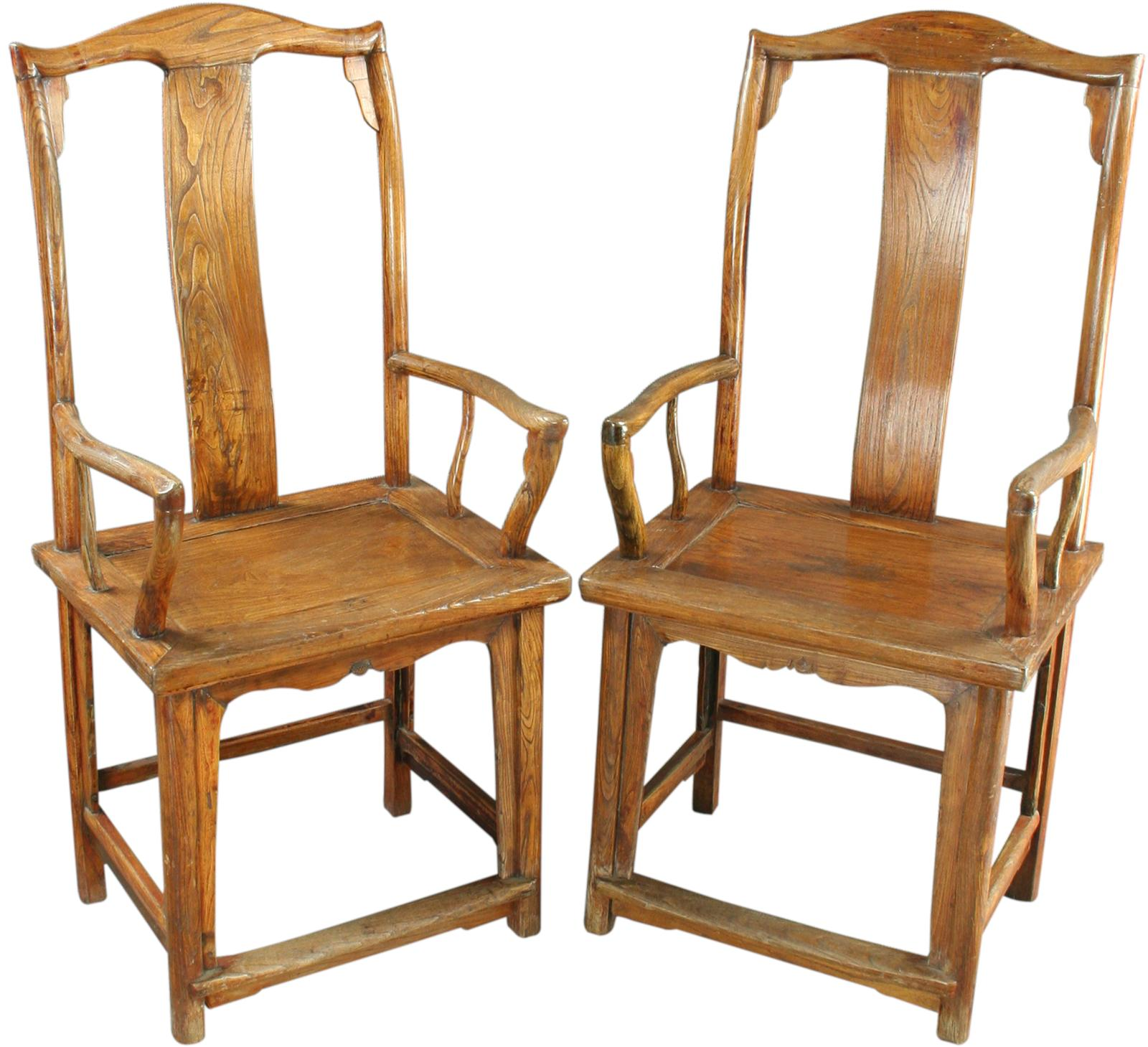 Ebay Accent Chairs: PAIR ANTIQUE CHINESE OFFICIAL'S ARMCHAIRS ACCENT CHAIRS