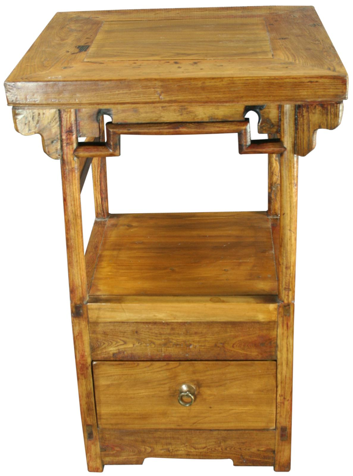 Antique Chinese Accent Table Nightstand Kitchen Stove Ebay