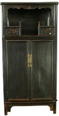 Antique Chinese Armoire Cabinet Wardrobe Carved Birds