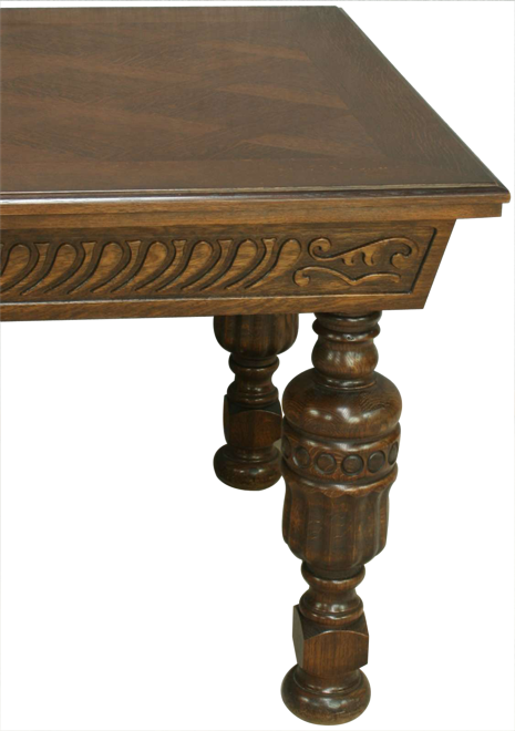 Dining table carved legs
