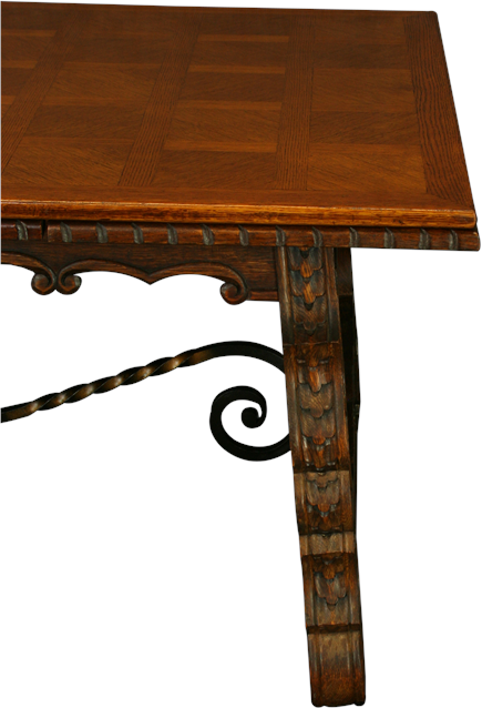 LARGE VINTAGE FRENCH DINING TABLE, RENAISSANCE STYLE ...