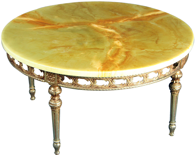 Large Round Vintage French Country Rococo Coffee Table Ebay