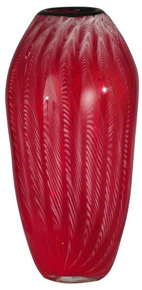 New Dale Tiffany Vase Cherry Drop Glass Hand-Blown DY-816