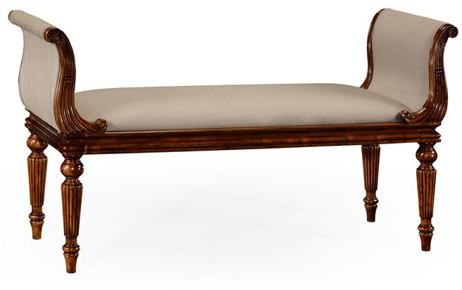 New Jonathan Charles Bench Walnut Country Farmhouse Collection JC-1056