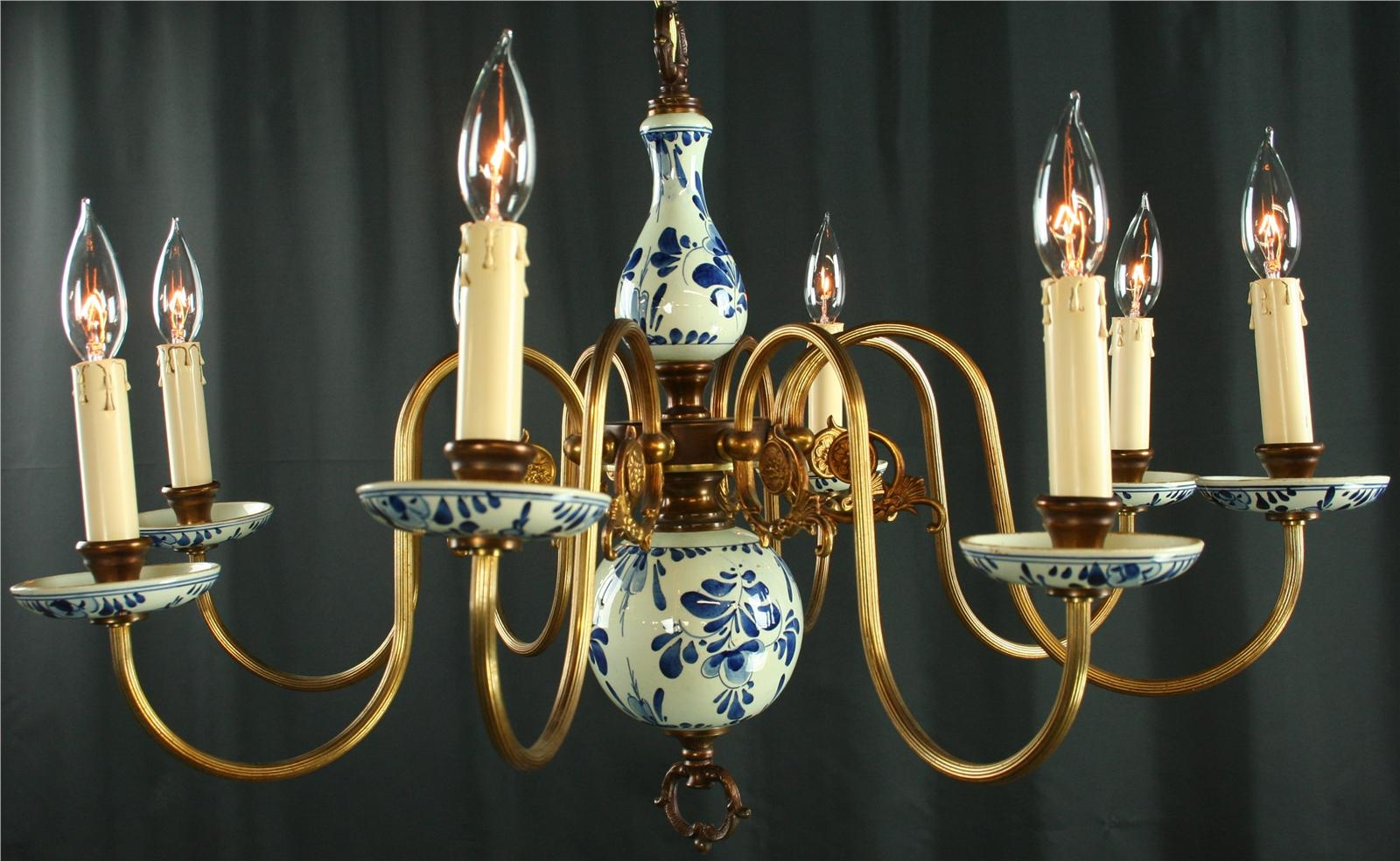 Blue and white delft chandelier chandelier gallery reserved for jeanne i delft chandelier blue white pewter vintage arubaitofo Images