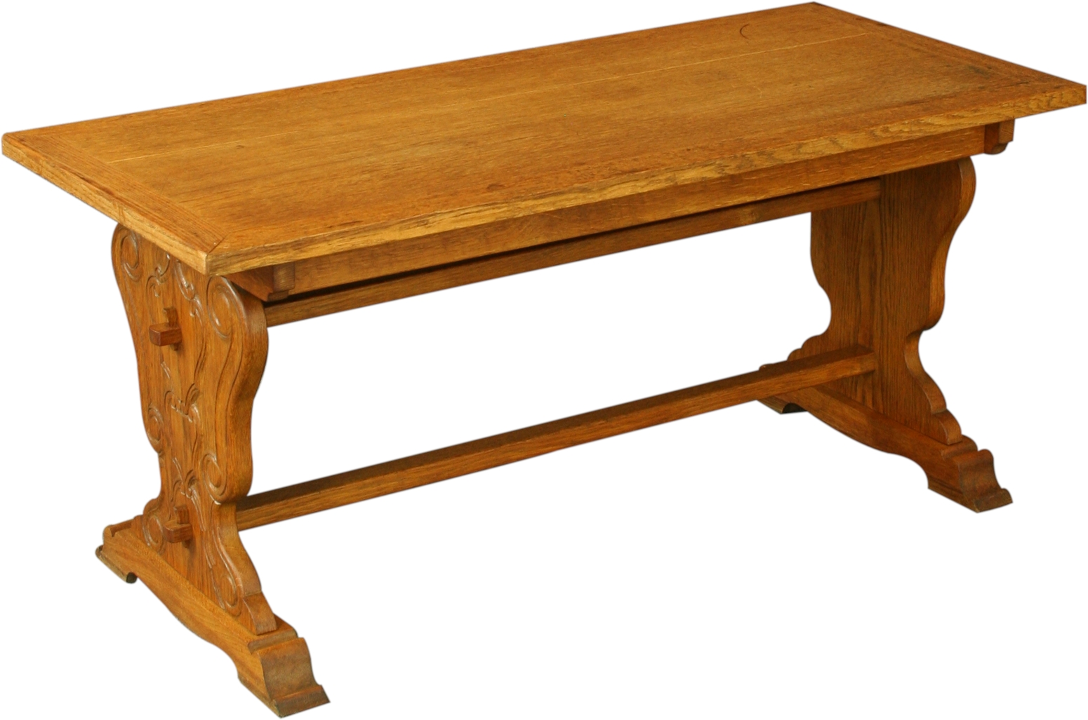 Vintage 1950 French Coffee Table Spanish Renaissance Style Carved Oak Ebay