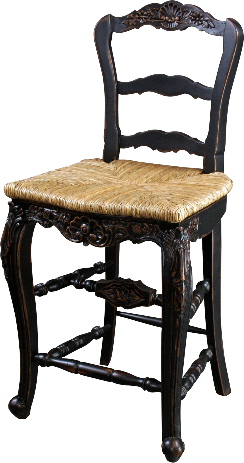 New Counter Height Stool Black French Country Rattan