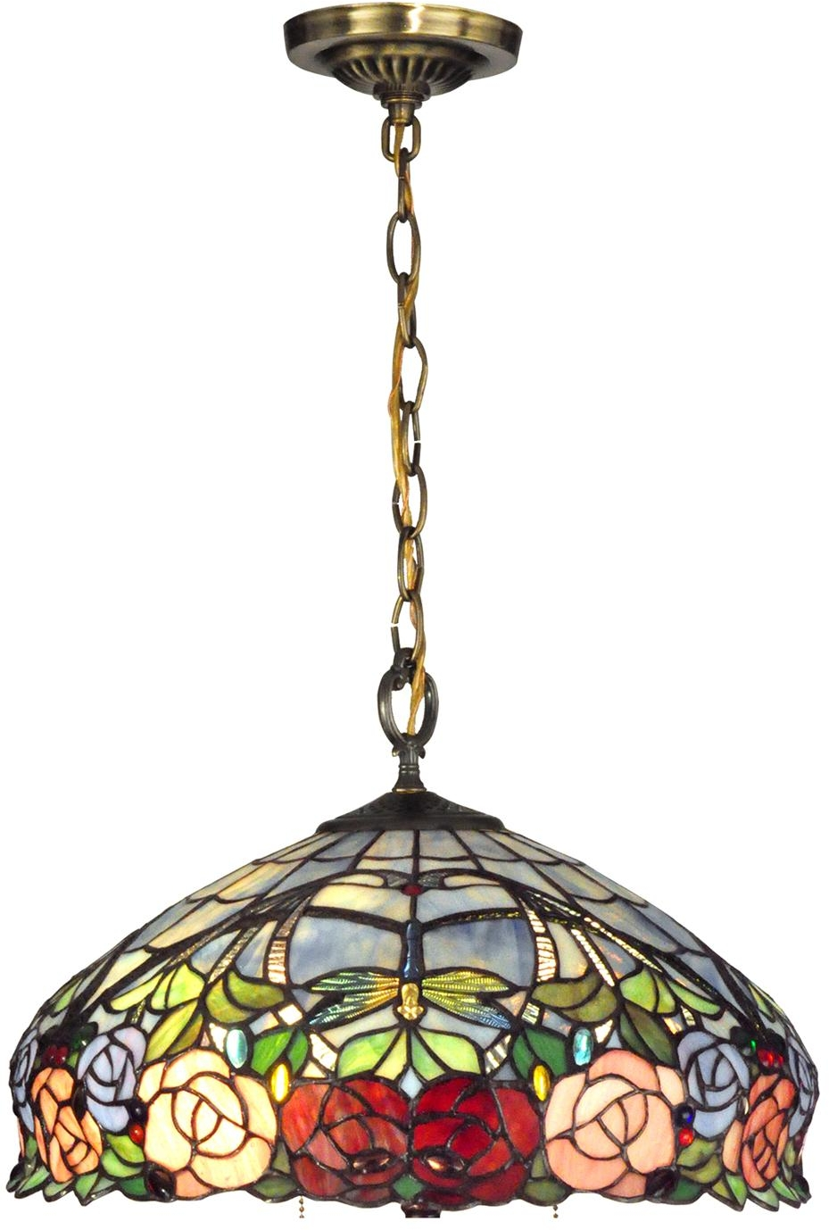 Tiffany Hanging Light Fixtures Fixture DALE TIFFANY Reproduction Hanging 1 Light Antique Brass Metal
