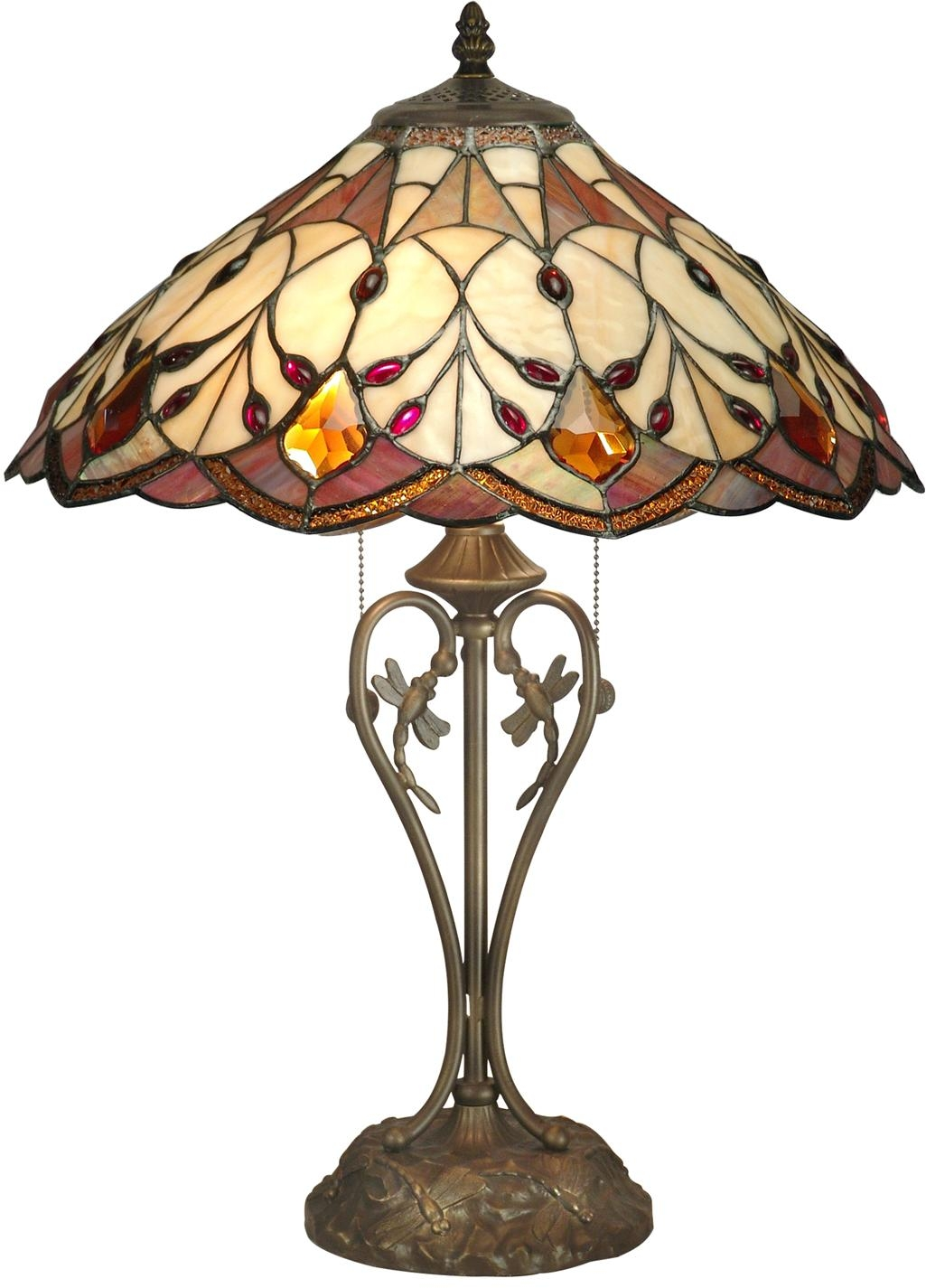 dale tiffany marshall table lamp large art glass gems dragonfly base. Black Bedroom Furniture Sets. Home Design Ideas