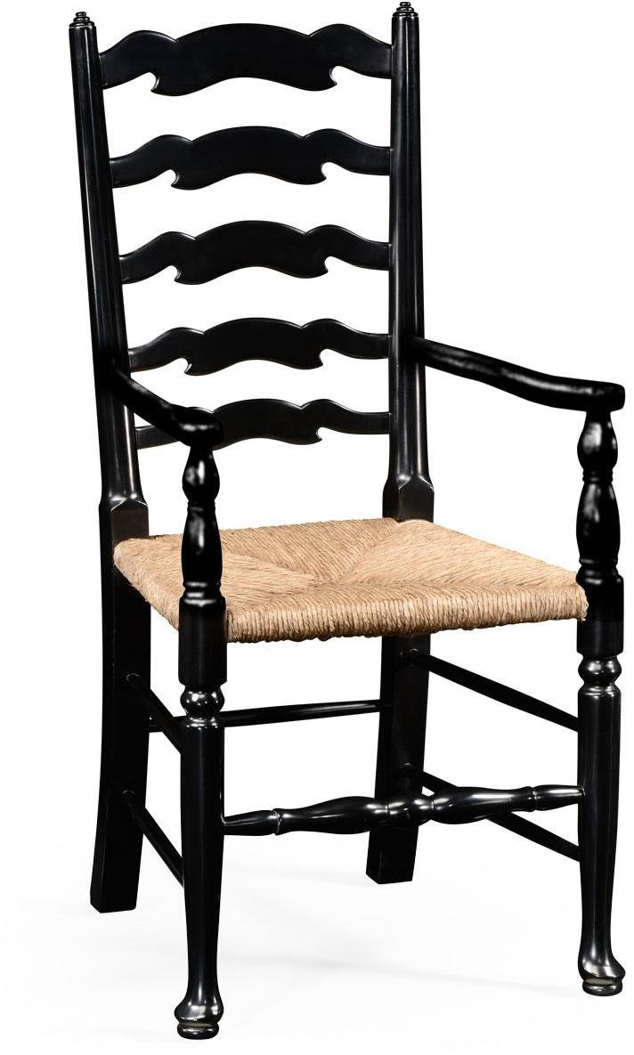 Jonathan Charles Dining Arm Chair JONATHAN CHARLES COUNTRY FARMHOUSE Ladder Back Upholste JC-2226