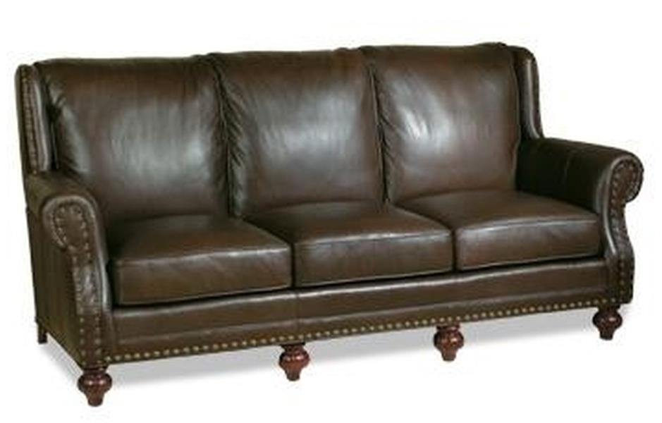NEW LEATHER SOFA HAND CRAFTED USA HIGH BACK NAILHEAD  : MK 408 1L from ebay.com size 939 x 600 jpeg 40kB