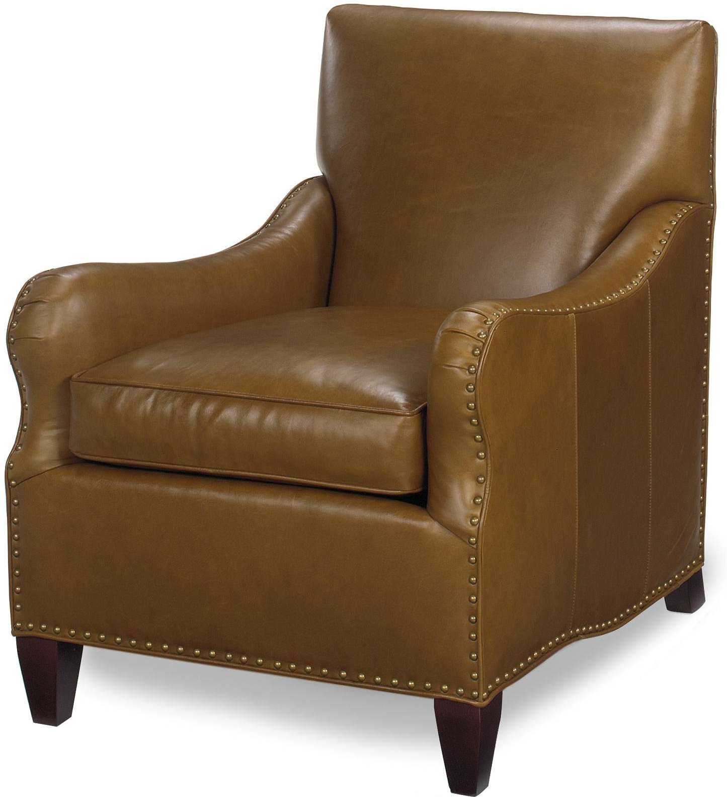 New Accent Chair Wood Leather Non Removable Leg Hand Crafted Tapered . Full resolution‎  snapshot, nominally Width 1445 Height 1585 pixels, snapshot with #644423.