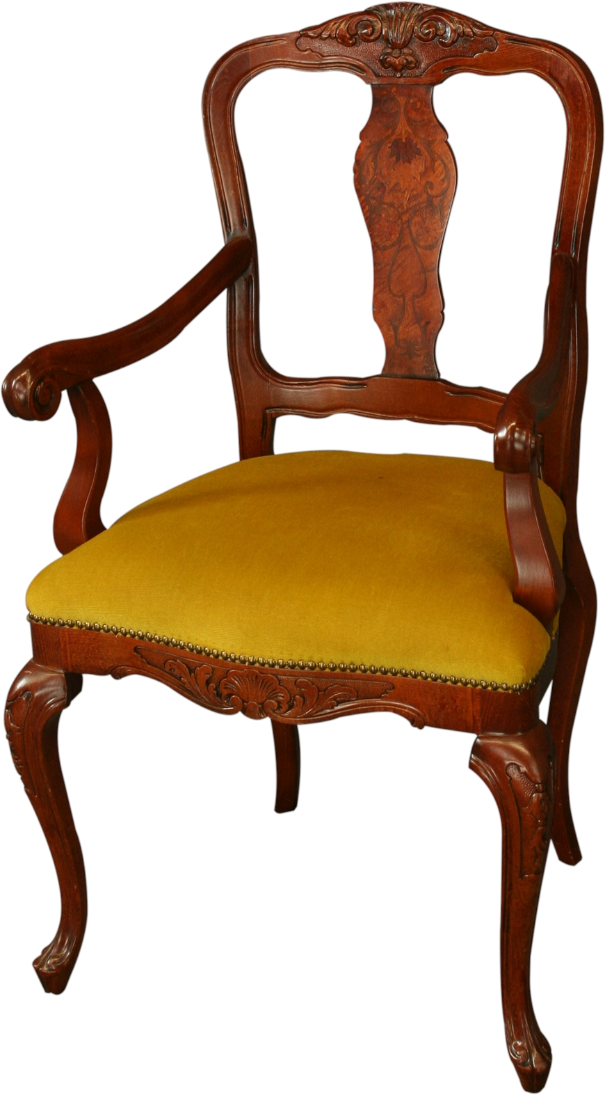 Large reproduction italian rococo arm chair inlaid for Rococo furniture reproductions