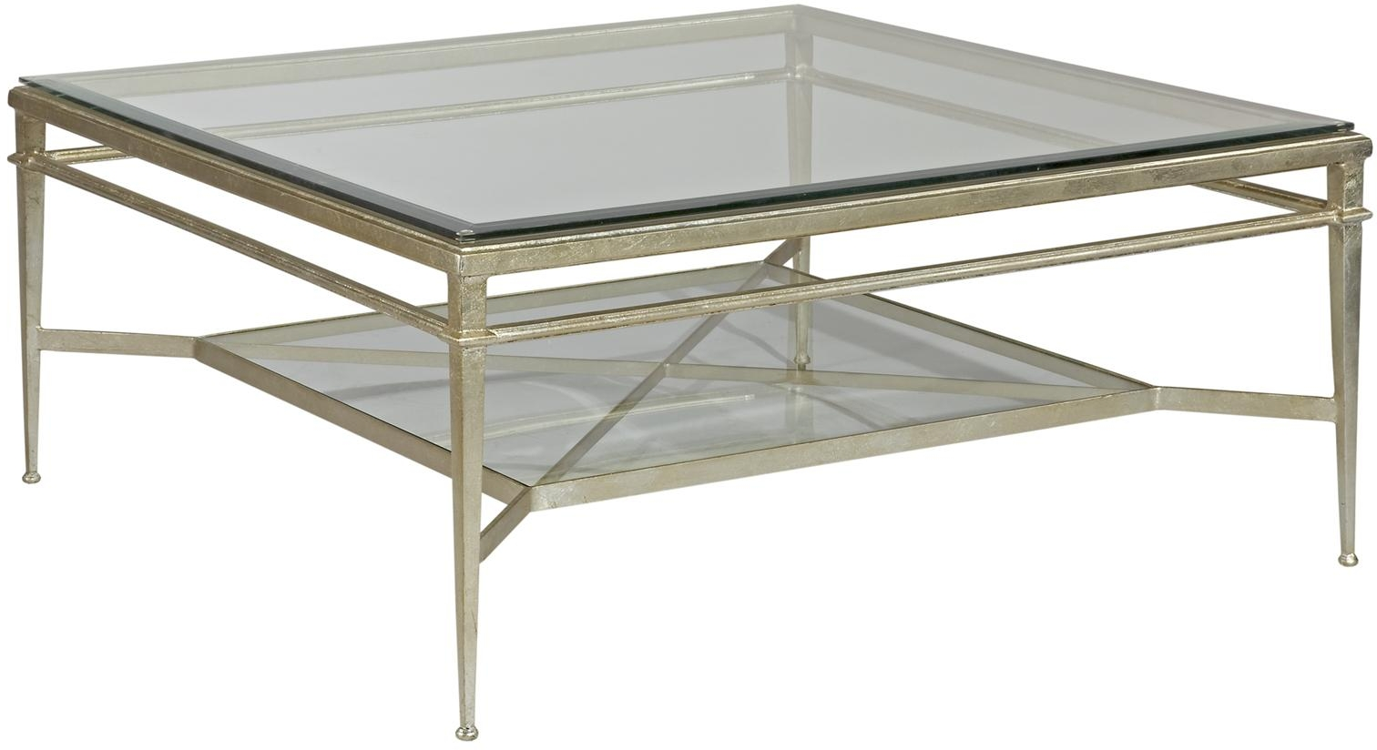 new square cocktail coffee table genuine silver leaf beveled glass top shelf ebay. Black Bedroom Furniture Sets. Home Design Ideas