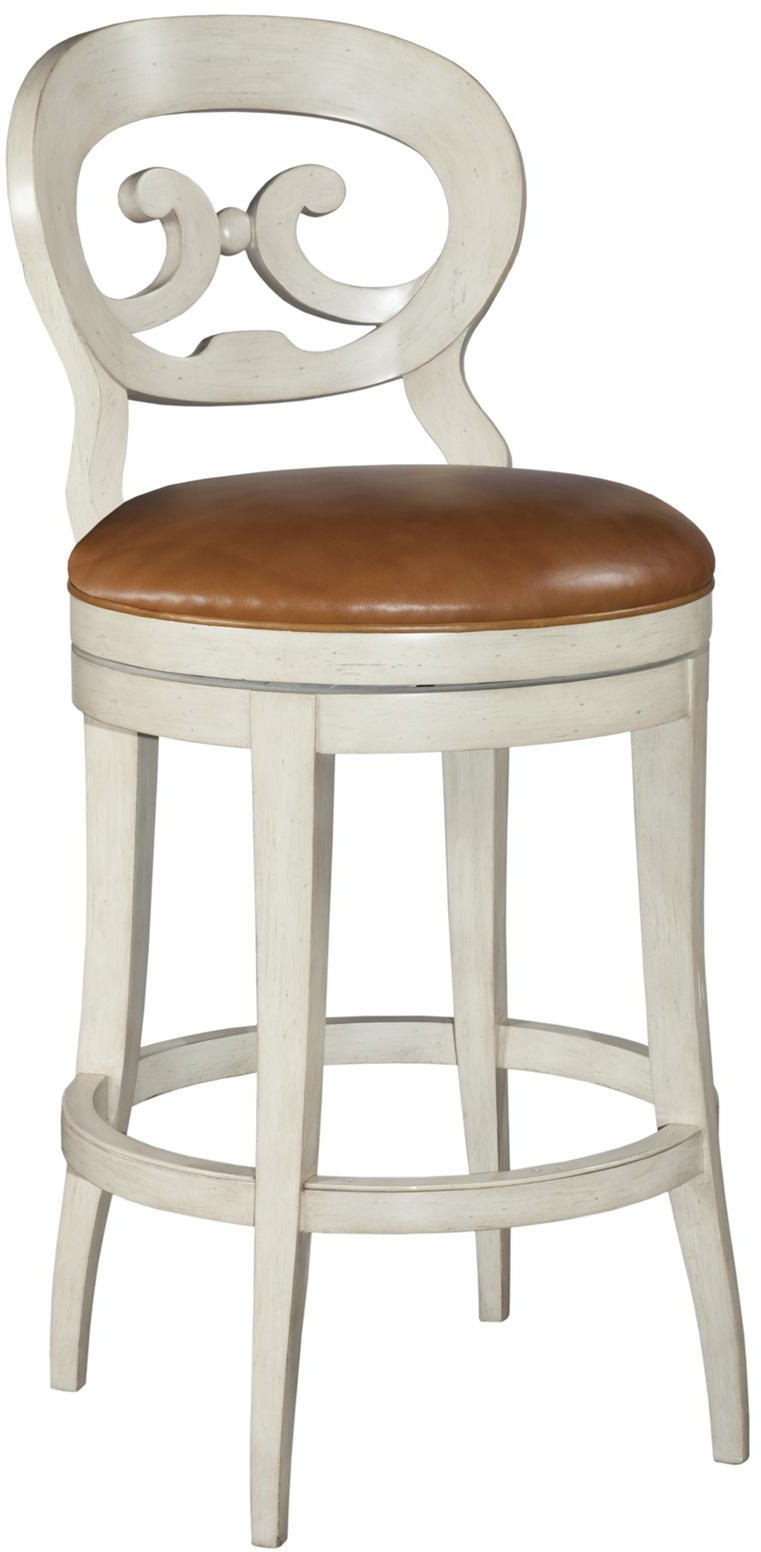 New Swivel Counter Stool Hardwood Chalk White Paint