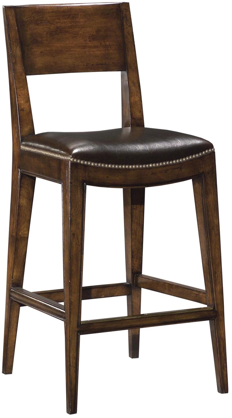 New saddle seat counter stool brown top grain leather