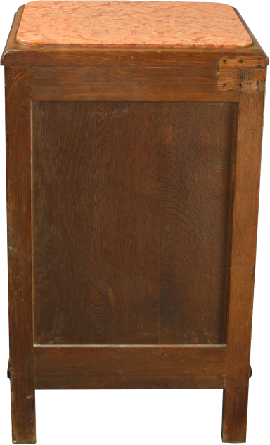 Antique French Art Deco Nightstand Bedside Accent Table