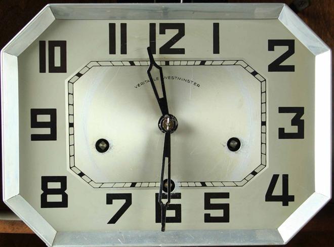 Antique French Art Deco Wall Clock 1920 Regulator Grape Carvings Wine