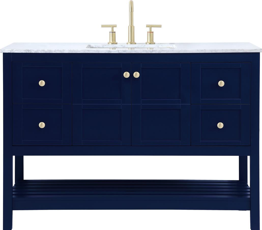 Bathroom Vanity Sink Traditional Antique Single Blue Gold Stone Metal Soli Ebay