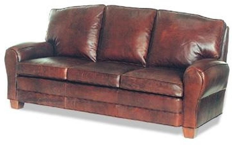 NEW SOFA WOOD LEATHER NAILHEAD TRIM NOT AVAILABLE REMOVABLE LEG ...
