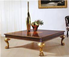 Merveilleux Table Legs DAVID MICHAEL Formal Furniture Gold Leaf Accents Walnut Burl C  DM 264