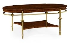 Coffee Table JONATHAN CHARLES OCTAVIA Oval Calista Dark Santos Brass Det  JC 3797