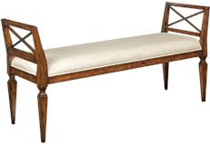 best woodbridge furniture co. Bench WOODBRIDGE Neo Classic Beige Bordeaux Brown Tan Solid Hardwoo  WB Woodbridge Furniture Company High End Home Furnishings